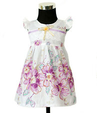 New Baby Girls Floral Cotton Party Dress in Pink,Lilac in 0-3,3-6,6-9 Months