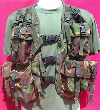 ASSAULT VEST JUNGLE/WOODLAND PLCE OPS LBE BRITISH ARMY ISSUE **USED CONDITION**