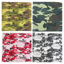 New Men Cotton Bandana Army Camo Sniper Camouflage Head Wrap Mask Scarf Scarves
