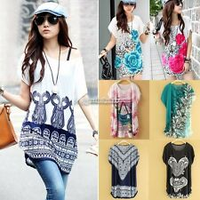 Mode Femme Tops Shirt Blouse chemisier Batwing Manche Hauts sexy 7 Types Mode