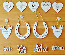New East Of India Small Wooden Wedding Signs Wedding Gifts Favours Hanging Tags