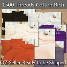 1500+ luxurious Cotton Rich Sheets,Quilt Cover,Pillowcases,Fitted Set 8 colors