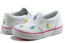 Polo Ralph Lauren Toddler Girl's Fashion Sneakers Bal Harbour Repeat Shoes