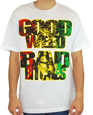 Mafioso Men's Good Weed T Shirt White  Gangster Streetwear Skateboarding