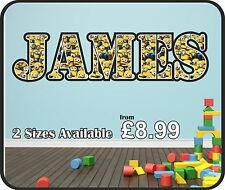 Personalised Minions Despicable Me Name Wall Sticker art vinyl,Graphic kr62