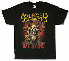 """AVENGED SEVENFOLD """"NEW DAY RISES TOUR 2014"""" BLACK T-SHIRT NEW OFFICIAL ADULT A7X"""