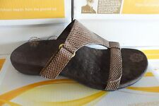 Ladies Orthaheel MOLLY Brown Snake Sandals- PRE OWNED- GREAT SUMMER SANDALS!