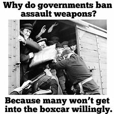 Anti Obama  GUN CONTROL GET INTO BOXCAR WILLINGLY Conservative Political T Shirt