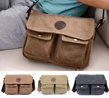 New Fashion Vintage Men's Lady's Canvas Shoulder Messenger Handbag Crossbody Bag