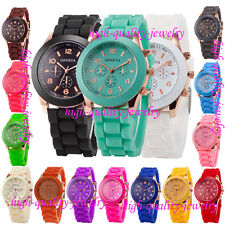 Popular Geneva Silicone Golden Quartz Men/Boy/Girl/Children Jelly Wrist Watch