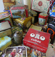 Vintage Tins Various Multi Listing from Art Deco To Modern