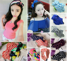 Fashion Women Ladies Girls Sweet Big Bowknot Ribbon Bow Head Band Hairband