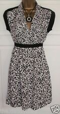 LADIES DESIGNER FRENCH CONNECTION BLACK & WHITE SUMMER DRESS NEW SIZE 8  FC
