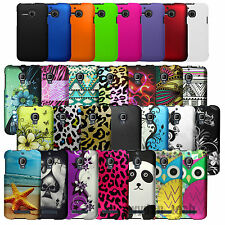 Hard Rubberized Case Matte Fitted 2-Piece Cover For Alcatel One Touch Phones