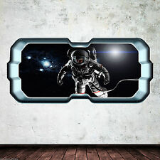 Astronaut Porthole Space NASA Full Colour Wall Art Sticker Decal Boys Bedroom