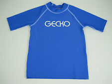 Children / Girls Gecko Rashie Vest Rash Top sizes 6 7 8 10 Colour Blue