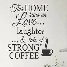 Kitchen Vinyl Wall Lettering This Home Love Laughter Strong Coffee Quote Decal