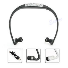 TF FM Radio Sport Wireless Headset Headphone Earphone Music MP3 Player Micro