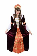 Costume Dress & Bonnet Middle Ages Zarin Nobility Queen Cosplay L005