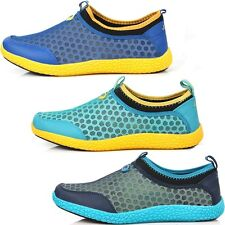 New Mens Beach Aqua Athlectic Sports Mesh Water Comfort Shoes Multi Colored