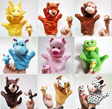 Cute Hand Sock Puppet Cute family toy 1 Large and 1 Small Size,More than 22 type