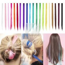 New Colorful Straight Clip In Synthetic Fiber Hair Extensions Hair Pieces Wig