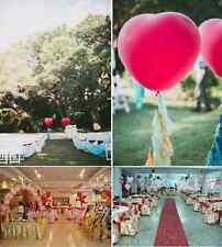 50 PCS Heart-Shaped Latex Balloons White Pink Red Hot Sale