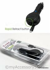 Compact Retractable Cable Auto Vehicle Car Travel Phone Charger For Motorola
