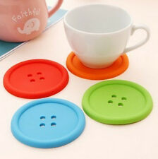 silicone cup Mug Glass Beverage Holder Mat Coffee Placemat Button Coaster one