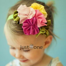 Super Cute f Baby Kids Girls Sweet Flower Elastic Soft Cotton Headband Hair Band