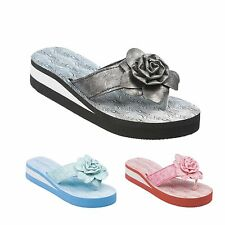 Ladies Flip Flop Waterproof Beach Slip On Sandals Size 3 to 8 UK - Style 131042