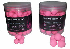Sticky Baits THE KRILL PINK ONES POP UPS 100g Tubs Carp Specimen Fishing