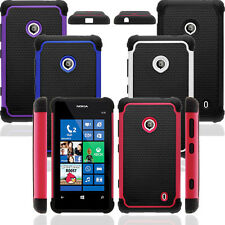 Heavy Duty Hybrid Silicone Hard Impact Case Cover for T-mobile Nokia Lumia 521