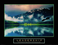 3 Leadership Spirit Wisdom Motivational Posters Photos Landscape 22x28 Framed