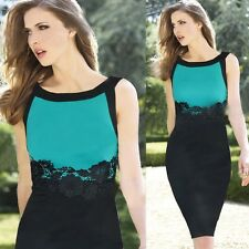 New Women Summer Vintage Lace Tunic Cocktail Party Slim Stretch Bodycon Dress
