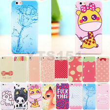 Hot Sale Cute Painted Cartoon Pattern Hard Back Skin Case Cover For iPhone 5S 4S