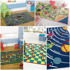 Modern Quality Kid Kiddy Children Boys Girls Rugs 5 Colours 3 Different Sizes