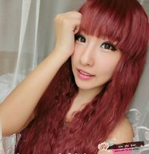 New Fashion women lady Long Curly Wavy Hair Full Wigs Cosplay Party Salon Beauty