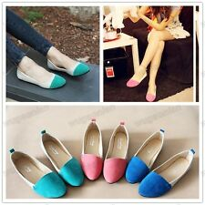 Hot Sale Women Girl Ballet Low Heels Flat Shoes Loafers Casual Comfort 3 Colors