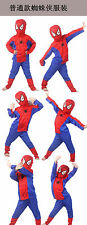 CHILDRENS KIDS SPIDERMAN FANCY DRESS PLAY COSTUME OUTFIT NEW CHEAP S