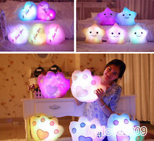 Romantic LED Light Cartoon Cute Colorful Pillow Christmas Birthday gifts for kid