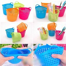 Plastic Mini Basket Table Container Easy Clean Desk For Bathroom Kitchen Office