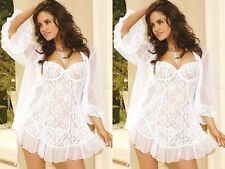 Womens Lace Satin Sexy Lingerie Night Gown Babydoll Dress Underwear G-string