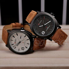 CURREN Unisex Delicate Quartz Analog Faux Leather Strap Wrist Watch Hot Gift