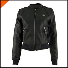 Veste Adidas Originals Night Faux Leather Jacket Noir Femme Adidas