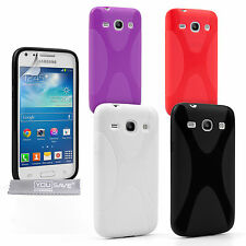Caseflex Accessories Samsung Galaxy Core Plus Stylish Silicone Gel Case Cover