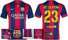 *14 / 15 - NIKE ; BARCELONA HOME SHIRT SS / DE LA PENA 23 = KIDS & JUNIOR SIZE*