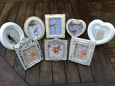 NEW VINTAGE STYLE CLASSIC SHAPED PHOTO FRAMES - RECTANGLE OVAL HEART PHOTO FRAME