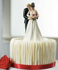 Yes To The Rose Romantic Couple Wedding Cake Topper WITH Custom Hair Colors