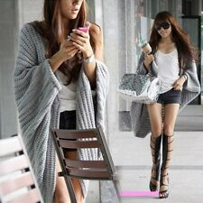 ZHA Lady Batwing Casual Loose Sweater Coat Knitting Long Cardigan Shawl Outwear